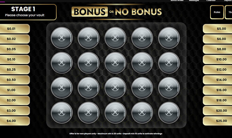 Bonus Game – Bonus or No Bonus