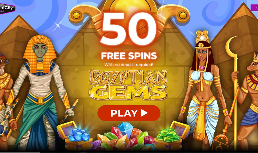 50 Free Spins – Egyptian Gems