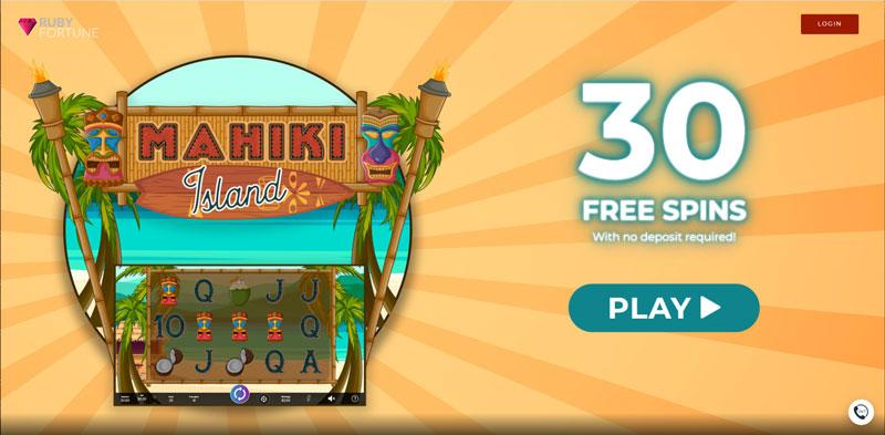 30 Free Spins – Mahiki Island