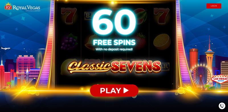 60 Free Spins – Classic Sevens